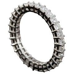 Princess Cut Diamond 0.07 CT Each, 2.10 CT total Eternity Ring in 18 Karat Gold