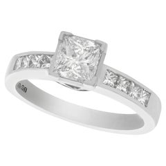Princess Cut Diamond and Platinum Solitaire Engagement Ring