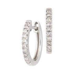 Princess Cut Diamond Earring 18k White for Her