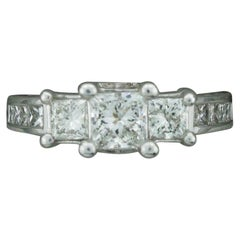 Princess Cut Diamond Engagement Ring in White Gold