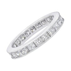 Princess-Cut Diamond Eternity Band '2.40 Carat Tw'