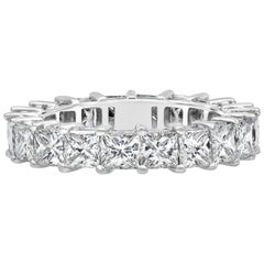 Princess Cut Diamond Eternity Wedding Band