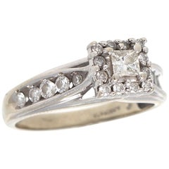 Princess Cut Diamond Gold Ring