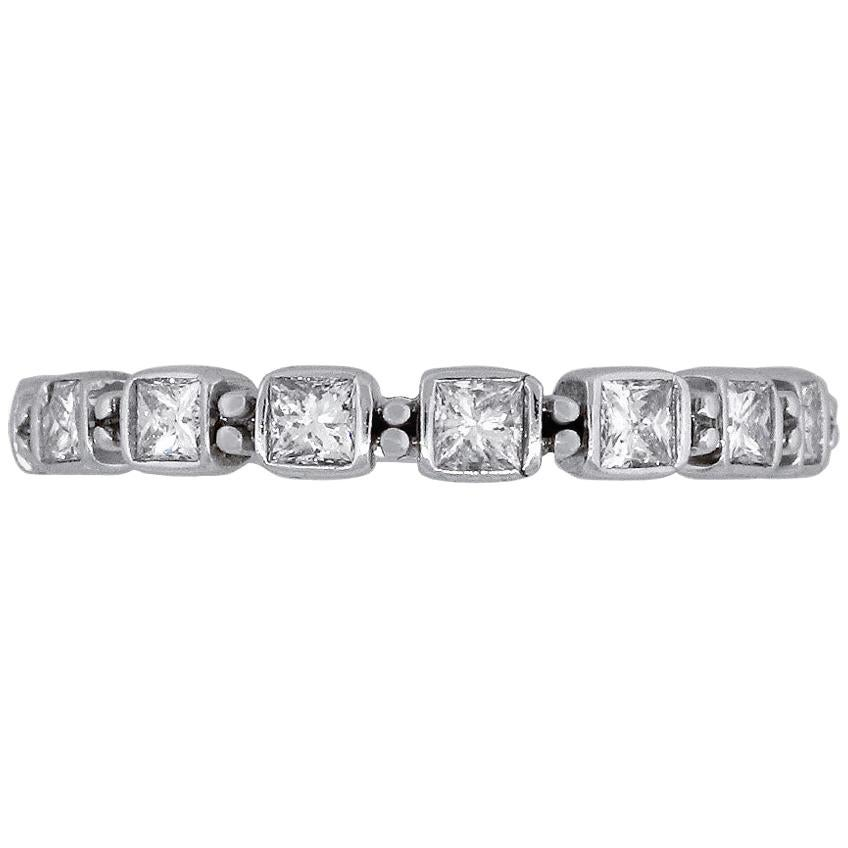 Princess Cut Diamond Ladies Band Ring