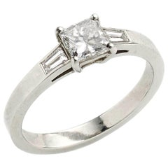 Princess Cut Diamond Ring 0.71 Carat