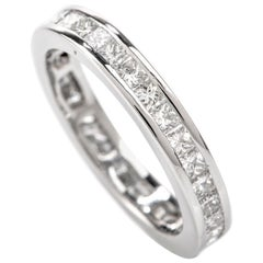 Princess Cut Eternity Diamond Platinum Band Ring