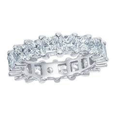 Princess Cut Eternity Ring Platinum
