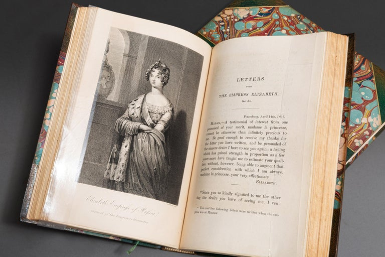 2 Volumes. Princess Daschkaw. Memoirs Of The Princess Daschkaw, Lady Of Honor To Catherine II, Empress Of All The Russians. Written By Herself: Comprising Letters Of The Empress And Other Correspondence. Boud In 3/4 Green Morocco By Zaehnsdorf,