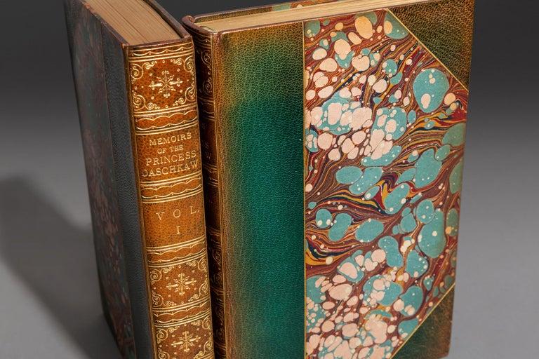 Mid-19th Century Princess Daschkaw, Memoirs Of The Princess Daschkaw For Sale