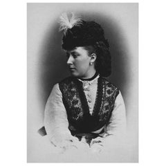 Princess Helena Authentic Strand of Hair, 19th Century