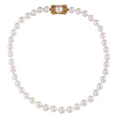 Princess Margaret South Sea Pearl Single Row Gold Necklace