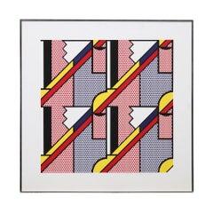 """Print by Roy Lichtenstein """"Modern Print 1"""", 1971"""