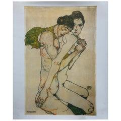 "Print Impression ""Couple Nu"" by Schiele Egon"