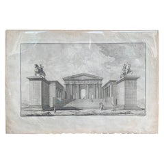 "Print of the Propylaea of the Acropolis from ""Les Ruines"" by Julien-David Le Roy"