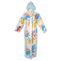 Printed and plasticized raincoat Jean-Charles de Castelbajac