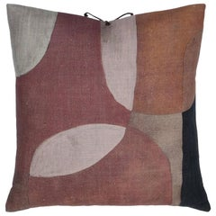 Printed Linen Pillow Transparencies Clay 20x20