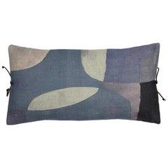 Printed Linen Pillow Transparencies Slate