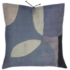 Printed Linen Pillow Transparencies Slate 20x20