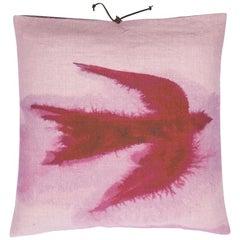 Printed Linen Throw Pillow Flight Dusk