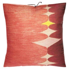 Printed Linen Throw Pillow Multi Spear Pink