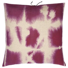 Printed Linen Throw Pillow Wash Lilac