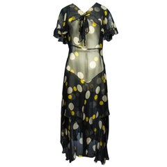 Printed Muslin Dress Circa 1930