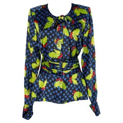Printed silk blouse Yves Saint Laurent Haute-Couture