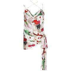 Printed silk  top John Galliano