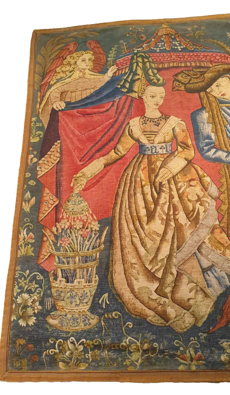 Art Nouveau Printed Tapestry of the 19th Century For Sale