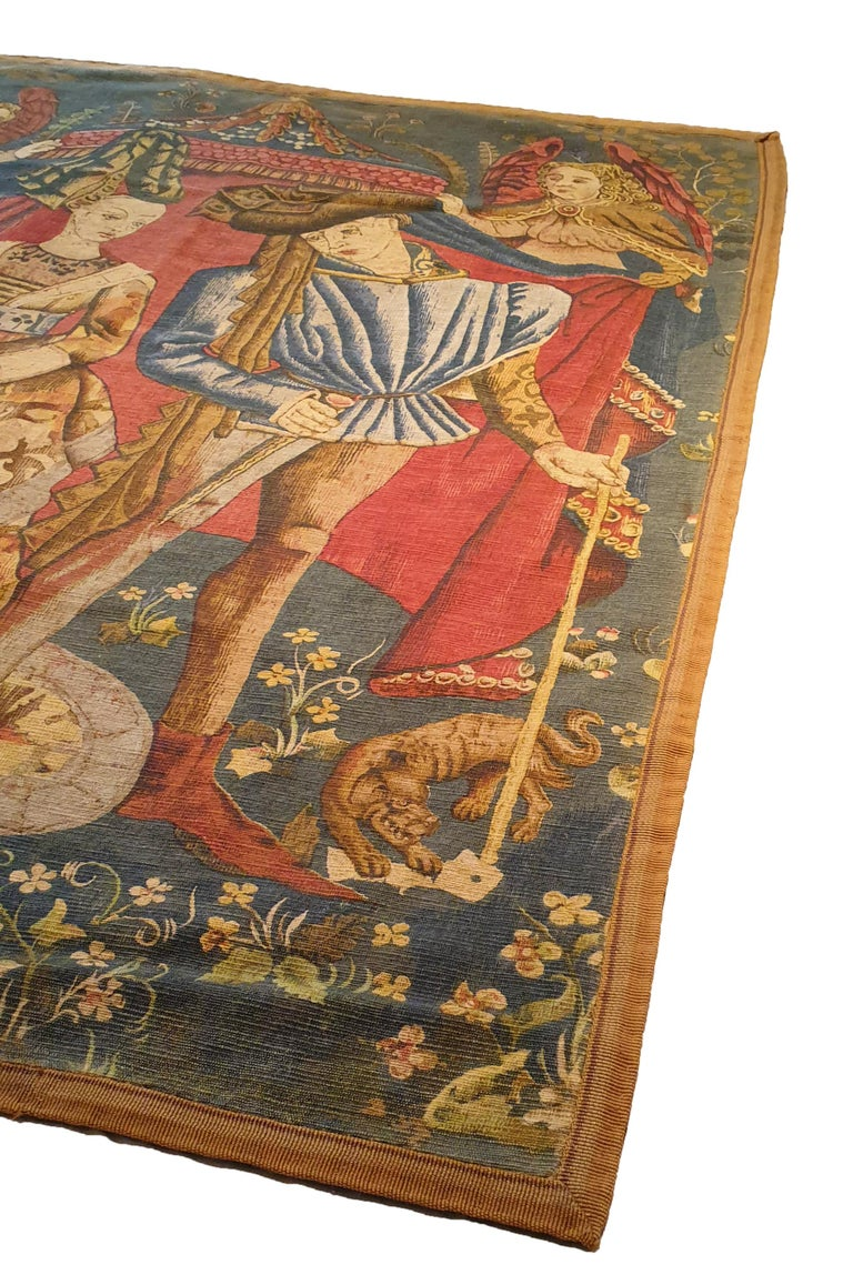 Hand-Woven Printed Tapestry of the 19th Century For Sale
