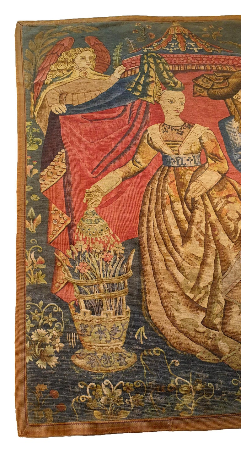 Printed Tapestry of the 19th Century In Excellent Condition For Sale In Paris, FR