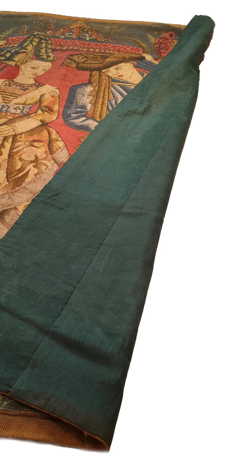 Mid-19th Century Printed Tapestry of the 19th Century For Sale