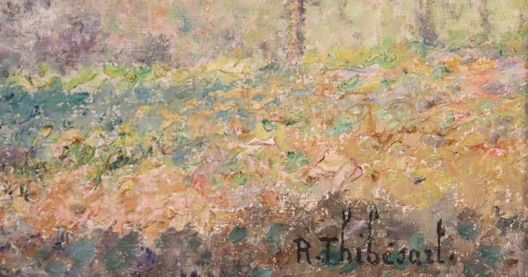 Printemps, Raymond Thibesart, Post-Impressionistic Oil Painting, 19th Century In Good Condition For Sale In Lantau, HK