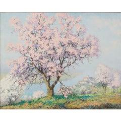 Printemps, Raymond Thibesart, Post-Impressionistic Oil Painting, 19th Century