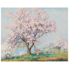 Printemps, Raymond Thibesart, Post-Impressionistic Oil Painting, 19th Century