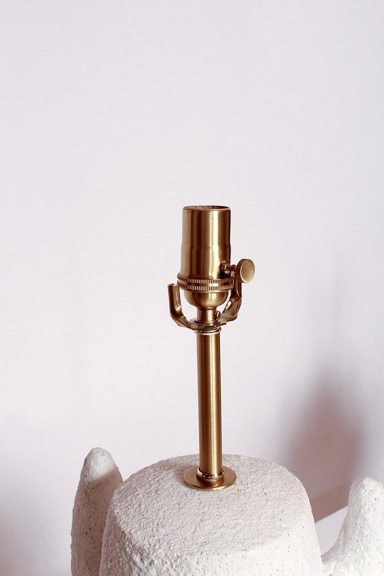 Organic Modern Priscilla Hollingsworth Ceramic Lamps Exclusively for Stripe Vintage Modern For Sale