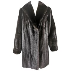 Pre-owned W. H. Bell &Sons Ranch Mink Fur Coat (Size 16-L)