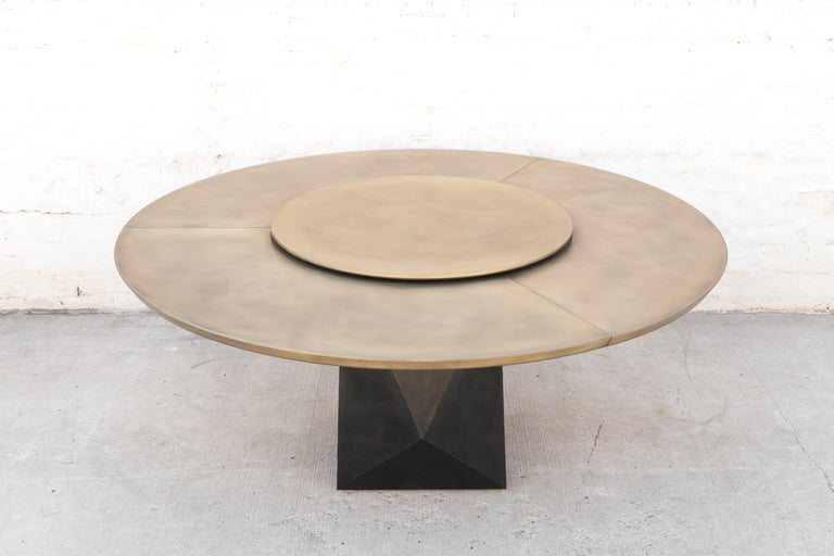 Prism Dining Table, Customizable Metal and Resin 2
