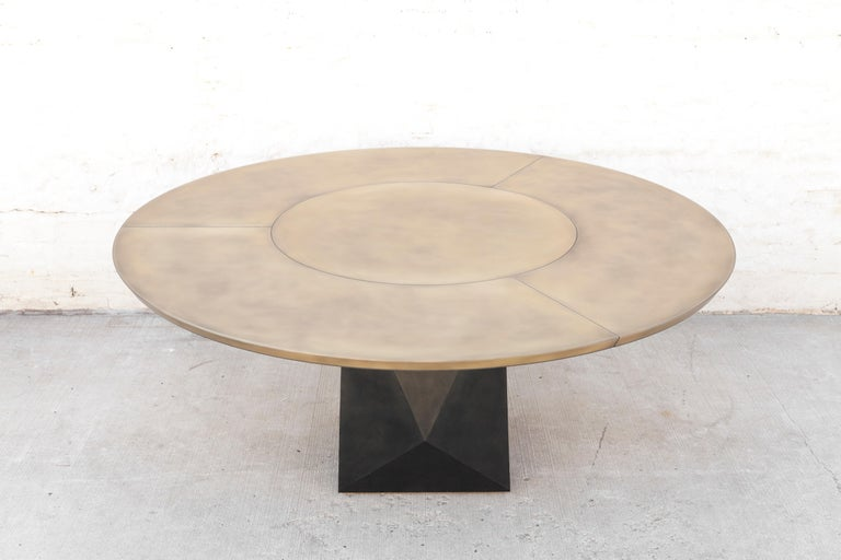 Prism Dining Table, Customizable Metal and Resin 3