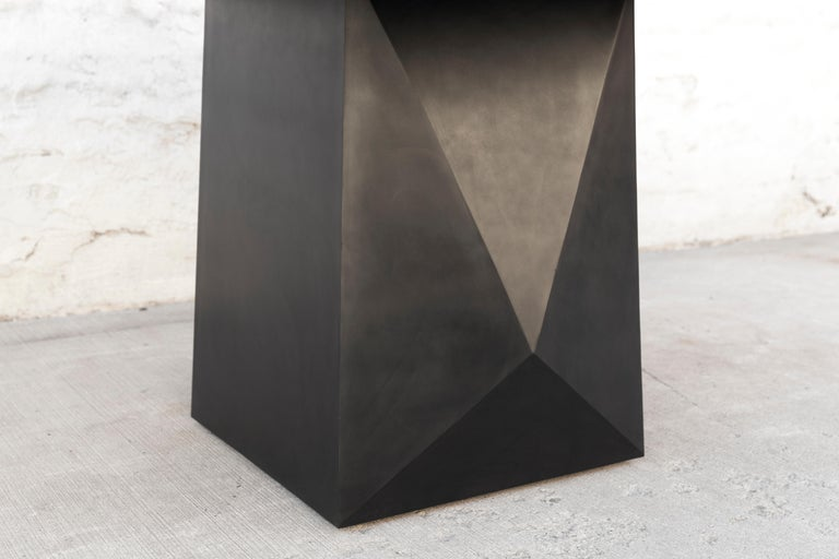 Prism Dining Table, Customizable Metal and Resin 7