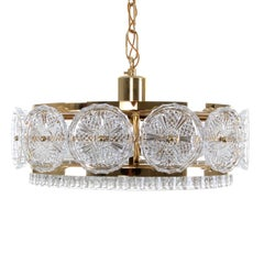 Prism Pendant by Vitrika, 1960s, Hollywood Regency Style Crystal Glass Lamp