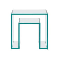 Prisma 1 Brazilian Contemporary Glass Corner Table by Lattoog