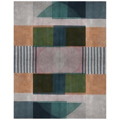 Prisma 1 Multi-Color Area Rug in Hand-Tufted Wool & Botanical Silk, Rug'Society