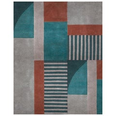 Prisma 2 Multicolor Area Rug in Hand-Tufted Wool & Botanical Silk by Rug'Society