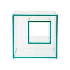 Prisma 3 Brazilian Contemporary Glass Corner Table by Lattoog