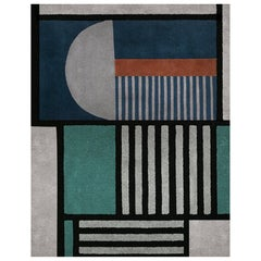 Prisma III Colorblock Area Rug in Hand-Tufted Wool & Botanical Silk