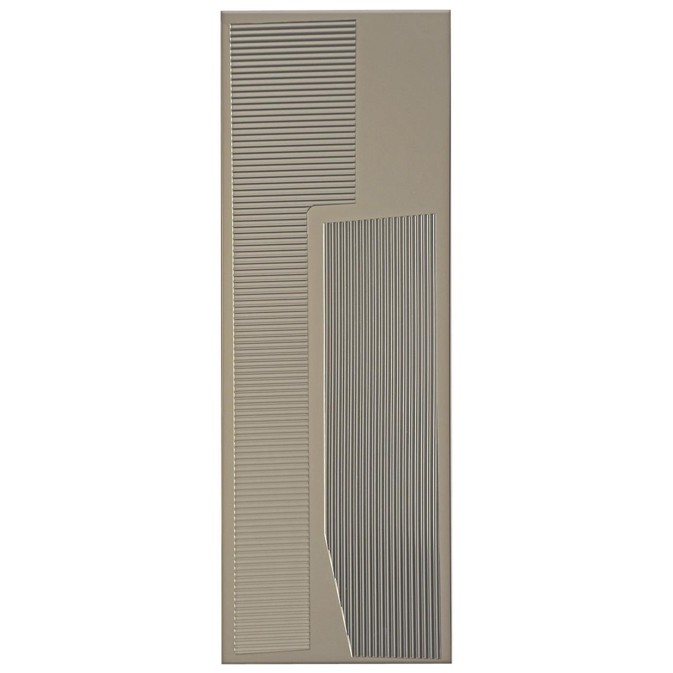 Prisma N02, 21st Century Rectangular Wall Bronzed Mirror