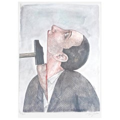 """""""Prisoners of Conscience"""", for Amnesty International by Roland Topor, #74/100"""