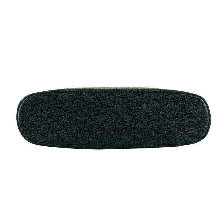 Black Chanel 'Vert Emerald' Caviar  Shoulder Bag- Iconic 'CC' Globes - Pristine - Rare For Sale