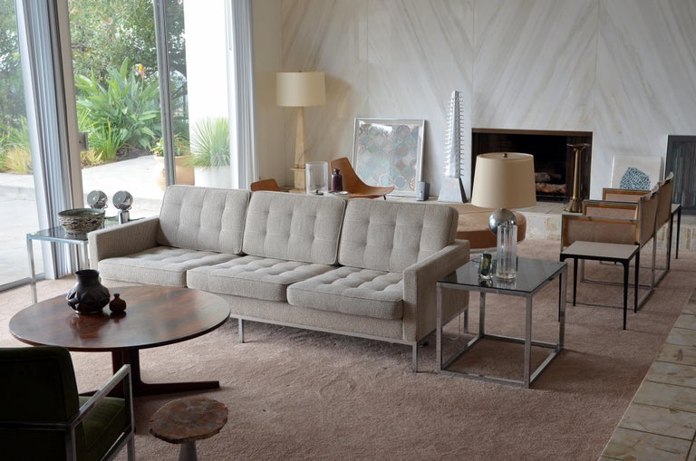 Modern Pristine Florence Knoll Sofa for Knoll International For Sale